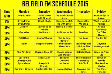belfield schedule LAD